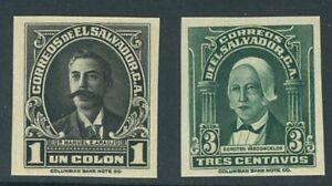 El Salvador 1935, 3c + 1 col., IMPERF PROOF, American Bank Note Co. #559,567