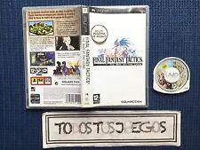 Final Fantasy Tactics Psp PAL ESPAÑA Playstation Portable BUENA CONDICION RARO