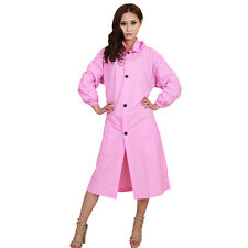 raincoat lady size pink colour long Hooded Waterproof