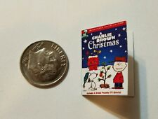 Miniature dollhouse Christmas book  1/12 Scale Charlie Brown Snoopy Peanut B