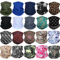 Summer Bicycle Balaclava Neck Gaiter Bandana Tube Scarf Face Mask Cover Washable