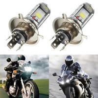 1PCS Motorcycle H4 COB LED Headlight Hi/Lo Beam Front Light Lamp Bulb WhiteFE