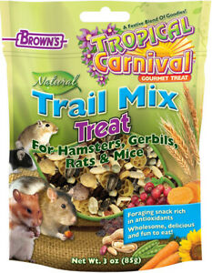 BROWN'S - Tropical Carnival Natural Trail Mix Hamster Treat - 3 oz. (85 g)