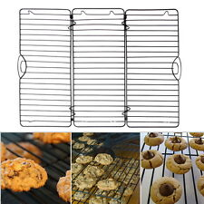 EXPAND and FOLD Steel Grid Baking BBQ Non-Stick Cookies Cake Cooling Rack Sheet