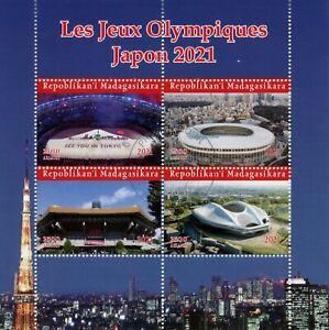 Madagascar Olympics Stamps 2021 CTO Tokyo Japan Summer Games Sports 4v M/S
