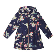 Baker by Ted Baker - Girls' Navy Floral Print Mac Coat Jacket Size 4