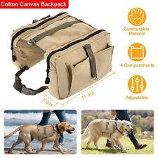 Dog Backpack Waterproof Saddlebag Vest Harness Hound Hiking Camping Outdoor Gear