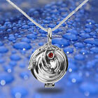 Antique Silver The Vampire Diaries Elena's Vervain Locket Pendant Gem Necklace