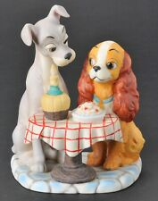Vintage Walt Disney Production Lady and the Tramp Figurine Spaghetti Scene