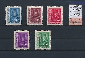 LO04780 Hungary 1935 historical figures fine lot MNH cv 40 EUR