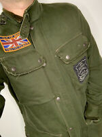 Rugby Ralph Lauren Large Green Motorcycle Jacket RRL Polo Military VTG Football