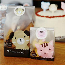 Dog - Puppy Frosted Plastic Bags Cookie Candy Cellophane Bags Party Gift