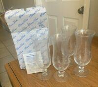 """Vintage Princess House  Set (4) 450 Heritage Crystal Dessert Stemmed Glasses  8"""""""