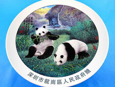"Gorgeous Stechcol 10.75"" Collectors Plate China Panda Bears Chinese wor