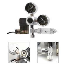 Aquarium Co2 pressure Regulator Magnetic Solenoid Gauge &Bubble Counter EU plug