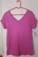 NWT! So juniors sportswear/athletic pink v-neck shirt, size Medium