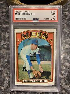 1972 Topps #16 Mike Jorgensen PSA 7 New York Mets