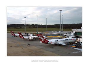 "QantasLink 717 and DH.8 A2 Art Print Melbourne 2010s – 59 x 42 cm 23"" x 17"""