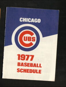 Chicago Cubs--1977 Pocket Schedule--Old Style Beer