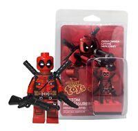 Deadpool Custom Minifigure marvel superheroes inspire FREE SHIPPING