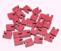 25x 2.54mm Red Jumper Shunts Bridges Hard Drive DVD Motherboards Electronics