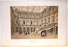Stampa antica PARIGI PARIS Hotel de Ville Cour d'honneur 1861 Old antique print