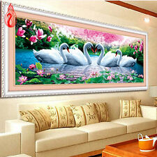 DIY 5D Swan Eternal Love Diamond Painting Cross Stitch Kit Picture of Rhinestone