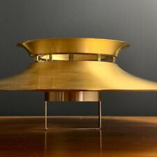 Mid Century Brass Cymbal Pendant Lampshade Used