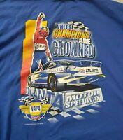 Atlanta Motor Speedway Shirt NAPA 500 Nascar Racing Size XXL Blue Graphic Tee