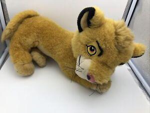 VINTAGE Disney The Lion King Simba Cub Plush Posed Pouncing Stuffed Animal 40cm!
