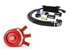 Perrin Oil Cooler Kit & GrimmSpeed Air/Oil Separator Red For Impreza 02-05 WRX