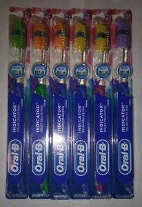 6 X Oral B Indicator Color Collection Toothbrush, Soft, Assorted Colors