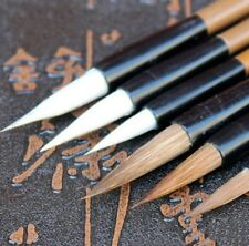 6 Chinese Japanese Water Ink Painting Writing Calligraphy Brush Pen Set Art Tool
