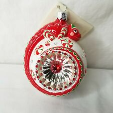 Patricia Breen Reflector Ornament Happy Holidays Hamish Peppermint Chameleon Tag