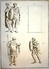 Encyclopédie Méthodique Antiquités Mythologie Chlamyde Paludamentum, Fagum 1786