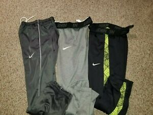 Lot of 3 Nike Dri-fit fleece lined athletic sweatpants size large & Xl 14-16