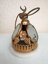 Clochette De Table Napoléon III médaillons métal doré 19th table bell