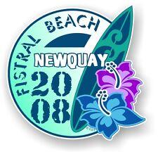 RETRO Tavola da Surf surf fistral BEACH Newquay 2008 AUTO CAMPER FURGONE Adesivo