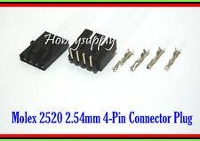 MOLEX 2543 2.54mm 4-Pin Male Right Angle, Female Lock Connector, Crimp x 20 Sets