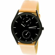 Skagen Men's Holst SKW6265 Tan Leather Japanese Quartz Fashion Watch
