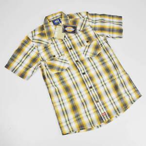 Dickies Shirt - short Sleeved - SIZE S - Slim Fit - Bowery Orange Checkered