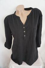 Damen Style Marie by Stooker Tunika Shirt gr 44-46 / schwarz  / Krempelärmel