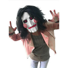 Fun Halloween Saw Billy Puppet Full Head Mask Tobin Bell Jigsaw Cosplay Costume