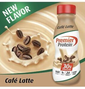 Premier Protein 30g Protein Shake, Cafe Latte, 11.5 Fl Oz, Pack of 12 New!