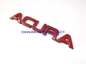 Acura RSX Type-S Red Carbon Fiber Emblem TL TSX RL Badge OEM Trunk Lid Nameplate