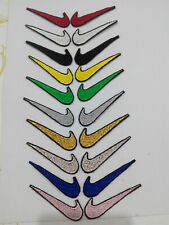 2 Parches bordados para pegar estilo Nike 5/1,5 cm encaradas para zapatillas