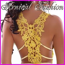 SEXY V NECK LACE TOPS SLEEVELESS SHIRT BLOUSE S M L womens floral top strappy au
