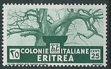 1933 ERITREA SOGGETTI AFRICANI 25 CENT MNH ** - K040