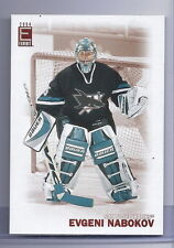 03-04 Pacific Exhibit Hockey Evgeni Nabokov Sharks Over-sized Base Card #052/425