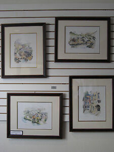 Watercolor Prints of Luxembourg Scenes:  Set of 4 Prints Signed and Numbered